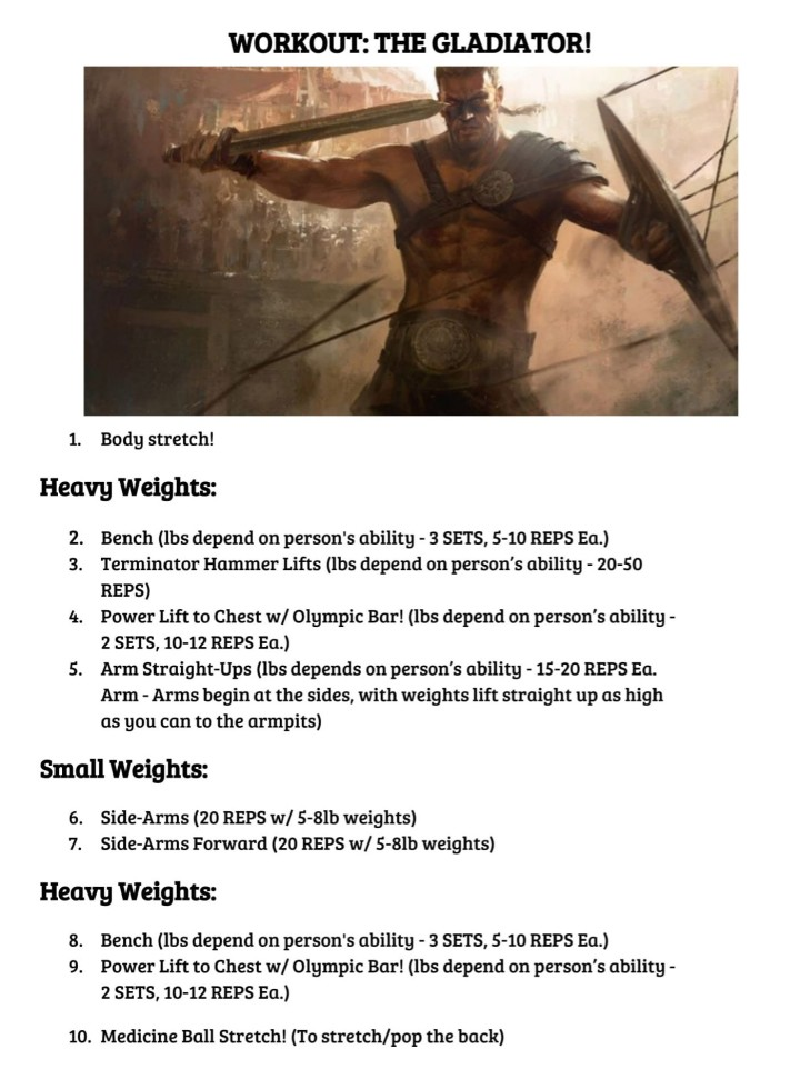 THE GLADIATOR WORKOUT!-1