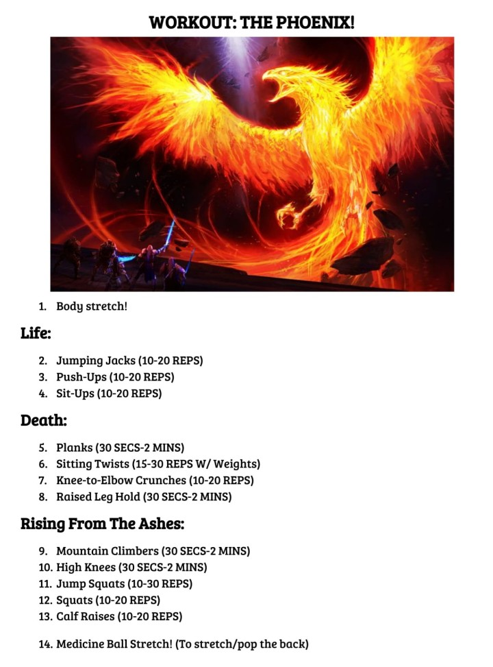 THE PHOENIX WORKOUT! - Edited
